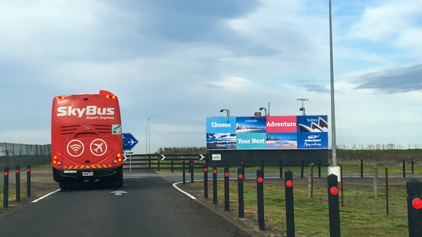 Billboard Avalon Airport Choose Your Next Adventure