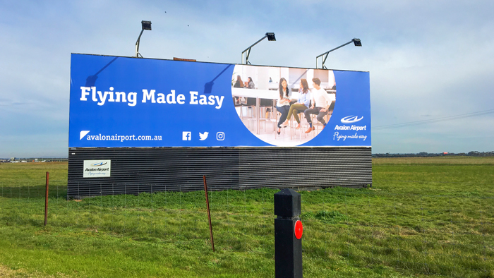 Billboard Avalon Airport Flying Made Easy