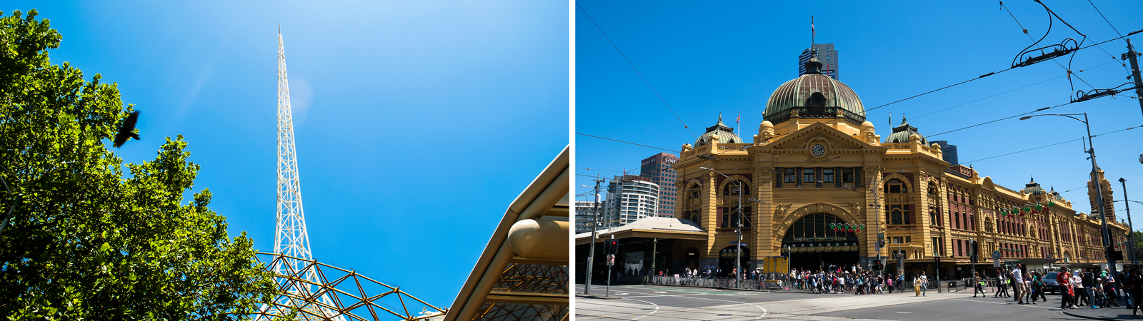 Arts Centre and Flinders St Station