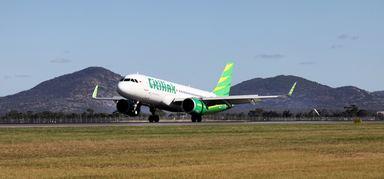 Citilink Lands at Avalon Airport