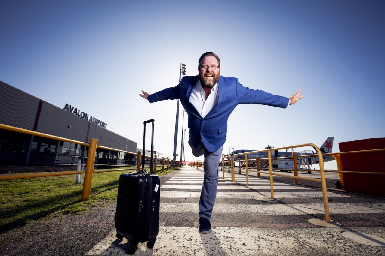 Shane Jacobson, new brand ambassador for Melbourne Avalon Airport