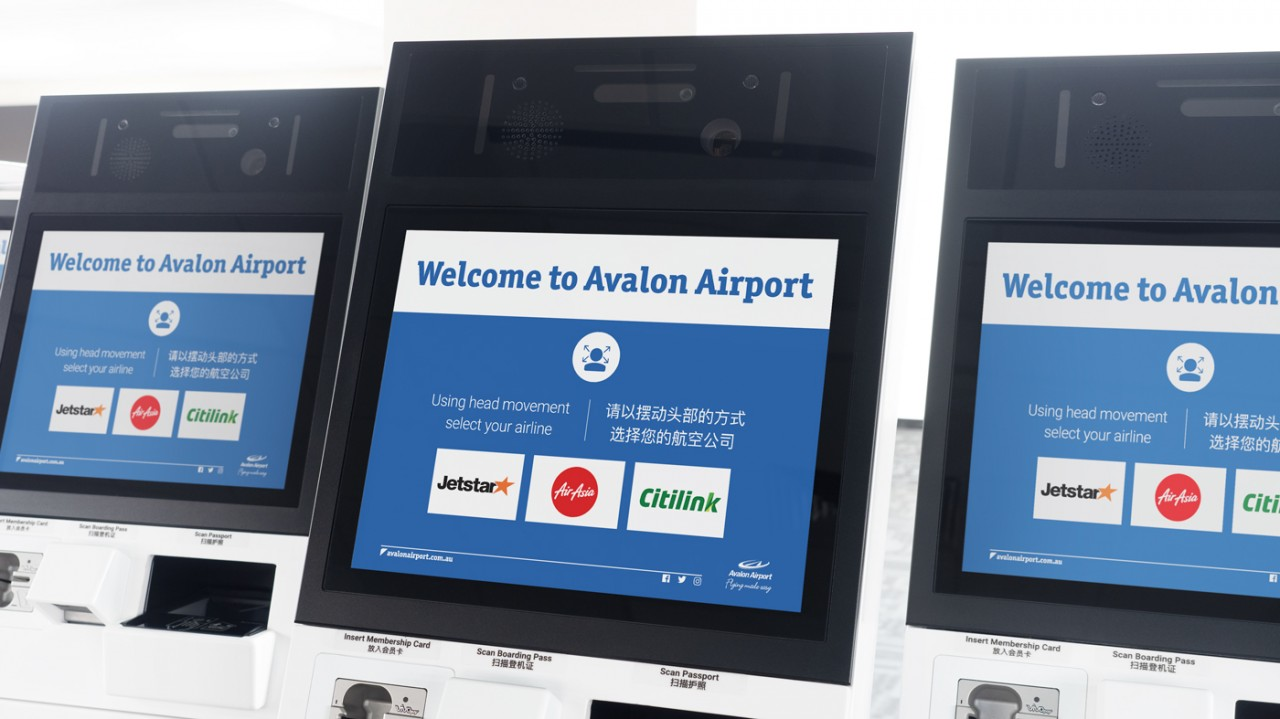 Elenium touchless check in kiosks installed at Avalon Airport